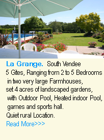 featured advert for lagrange gites in the vendee